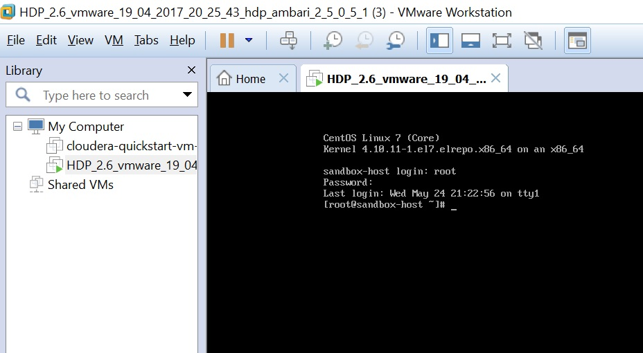 Horton works sandbox for windows - Apache Spark - itversity